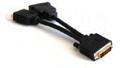 DVI to DVI/VGA splitter Y kabel